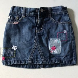 Gymboree embroidered denim skirt. Great condition!